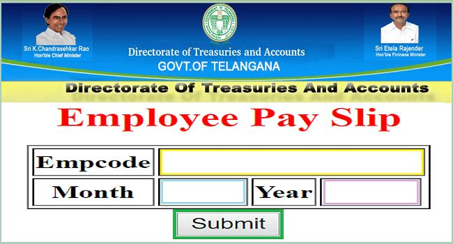 TS Employees Online Employee Pay Slips /Salary Certificate - EduSITE
