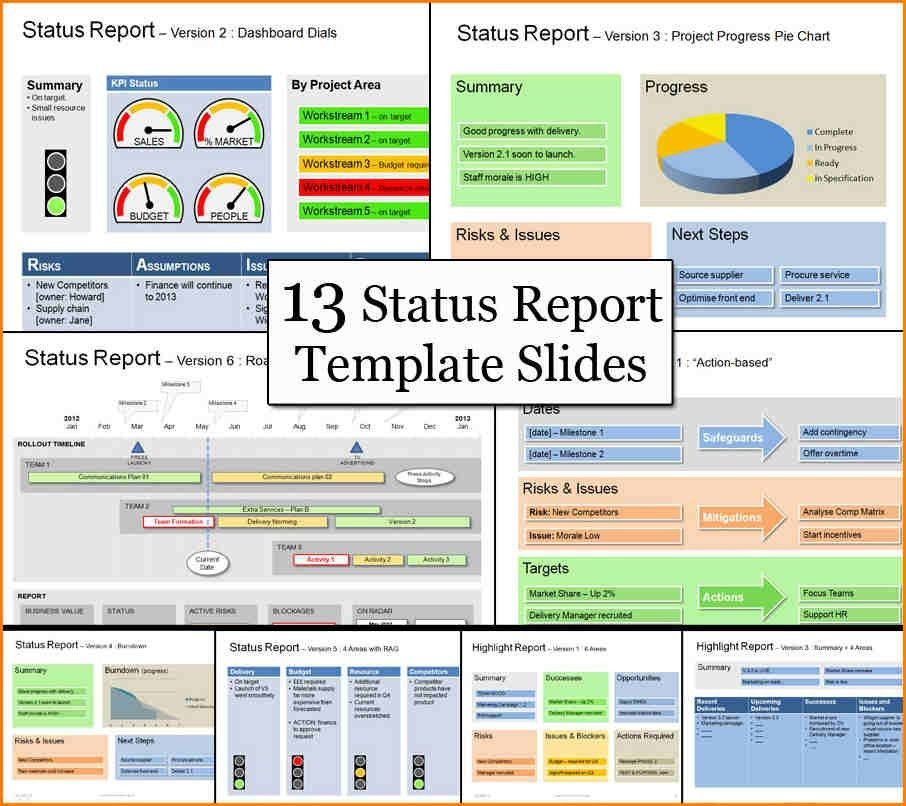 project status update template | writable calendar