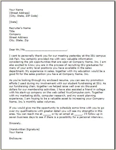 Thank You Letter After Interview Template Follow Up Letter Sample ...
