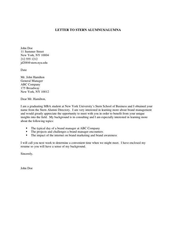 Samples General Cover Letters