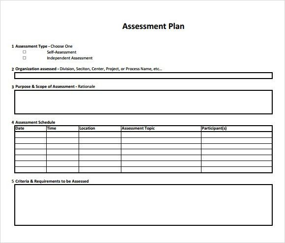 44+ Free Assessment Templates in Word Excel PDF Brochure