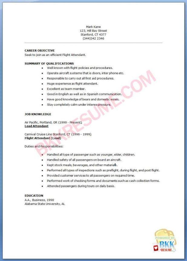 american airlines flight attendant sample resume agribusiness best ...