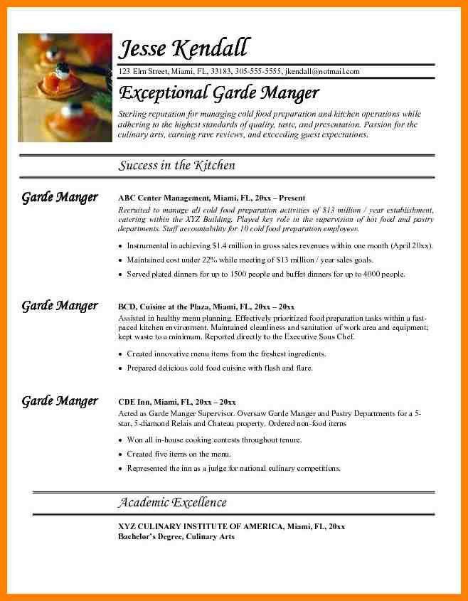 4+ chef cv examples | portfolio covers