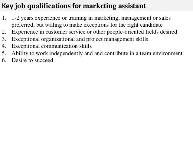 marketing assistant job description sample 3. resume objective ...