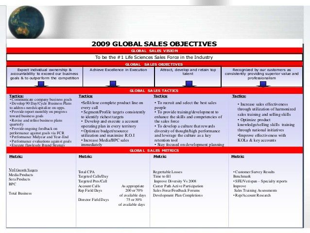 EXAMPLE: Global Life Sciences Commercial Strategy Plan