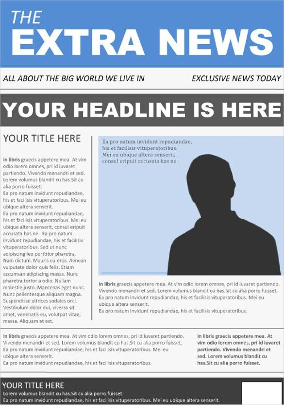 Newspaper Front Page Template – 10+ Free Word, PPT, EPS Documents ...