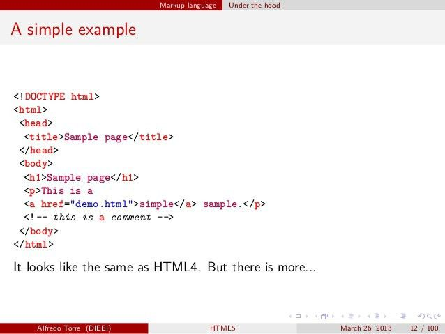 HTML5: features with examples