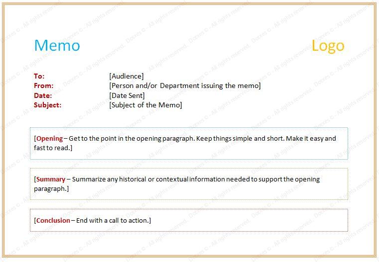 Example of Memorandum Letter - Dotxes