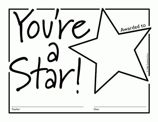 Star Templates Printable Free | Free Downloadable PDF Certificates ...