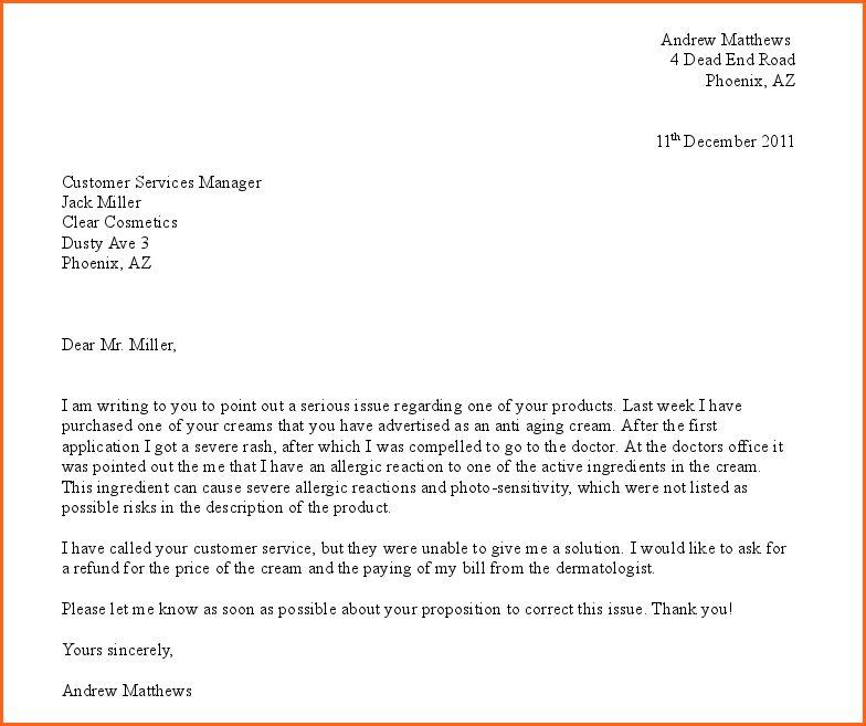 3 complaint letter template - Budget Template Letter