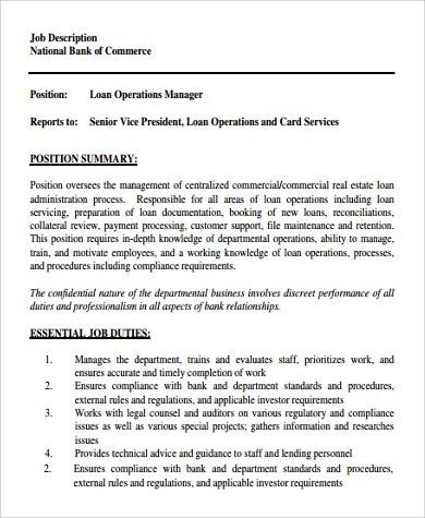 Charming Sample Operation Manager Job Description   9+ Examples In PDF, Word
