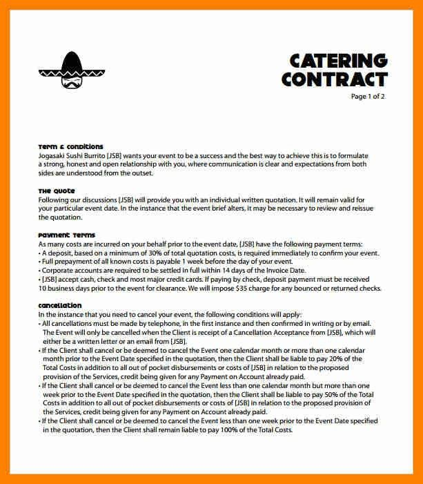 8+ catering contract wedding | beverage-carts