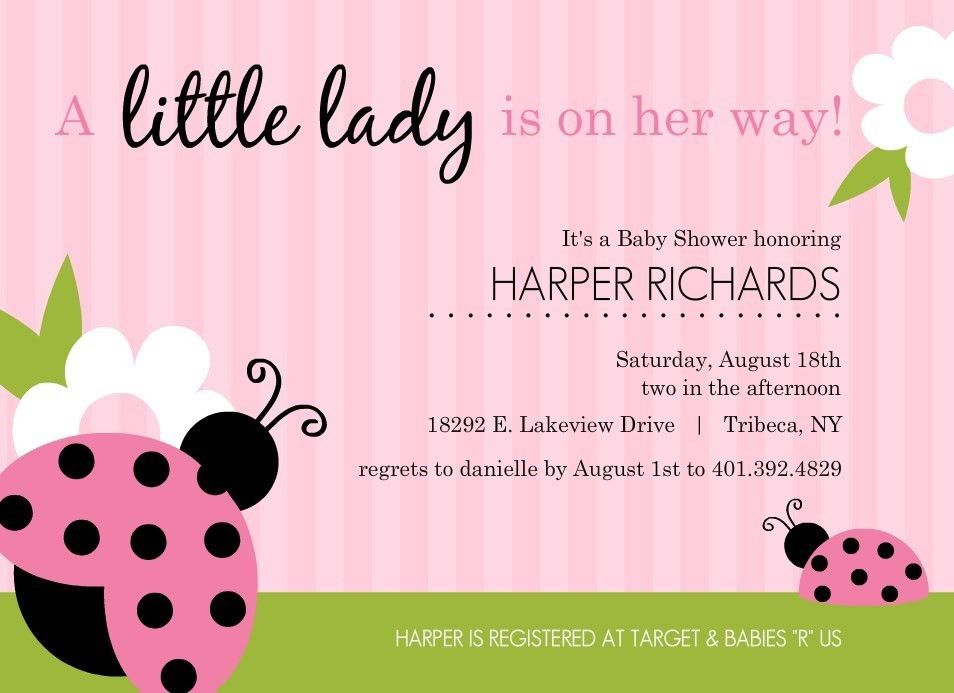 Baby Shower Invitations For Girls Templates - cloveranddot.Com
