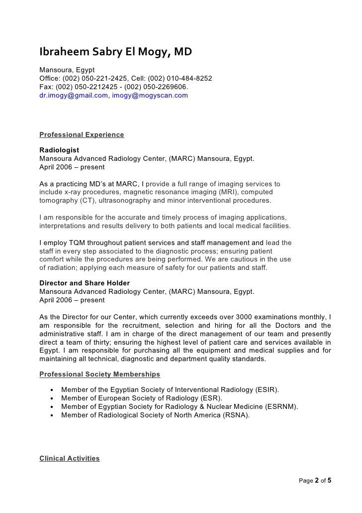 radiology resume professional radiology technician templates to