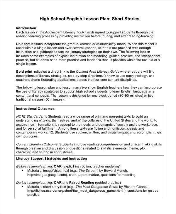 40+ Lesson Plan Samples | Free & Premium Templates