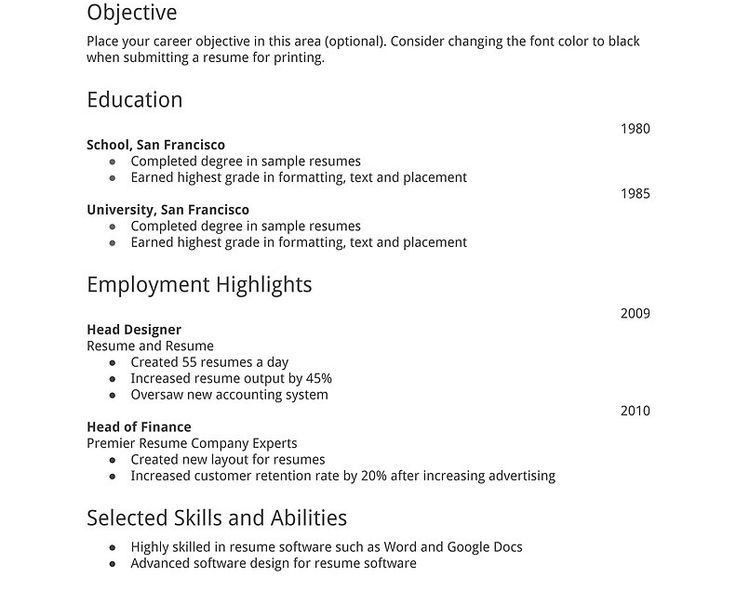 Simple Resume Cover Letter Examples. Example Of A Simple Resume ...