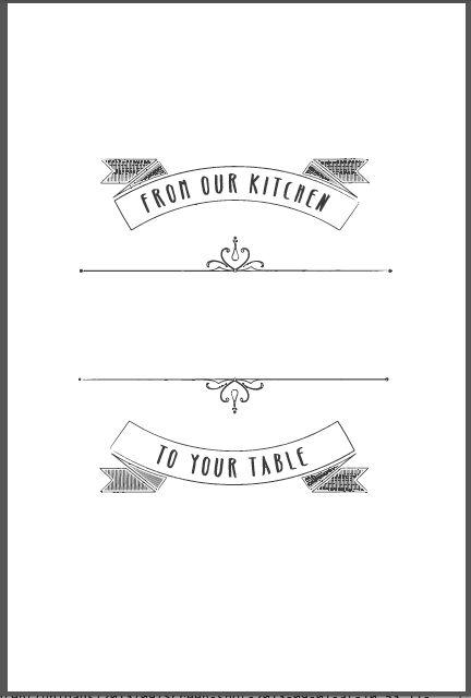 design templates | Heritage Cookbook