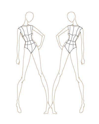 17 best A-mannequin drawing for fashion design images on Pinterest ...