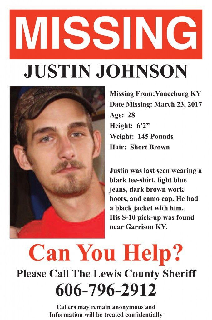 Missing person poster released for Justin Johnson – The Lewis ...