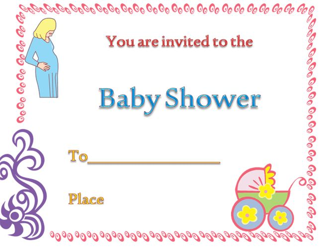 Free Baby Shower Invitation Templates For Words | Good Baby Themed ...
