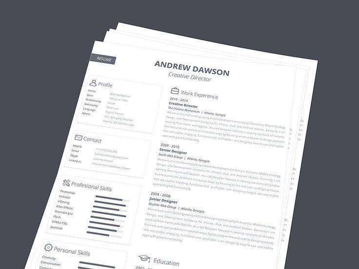 31 best resume / cv images on Pinterest   Design resume, Cv design ...