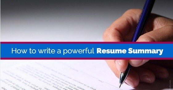 How to Write a Good Resume Summary That Grabs Attention - WiseStep