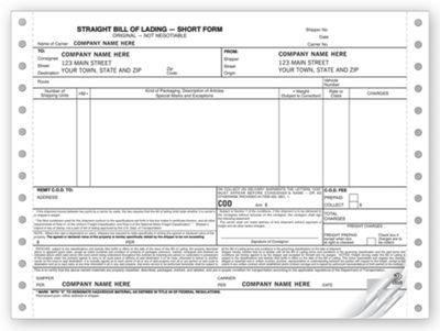 Bills Of Lading Forms - Business Checks, Forms and Supplies