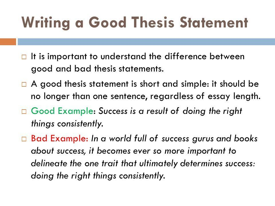 Writing a Thesis Statement - ppt download