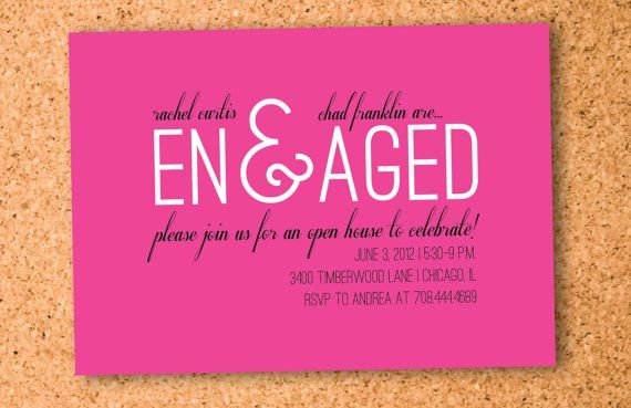 Plain Free Printable Engagement Party Invitations All ...