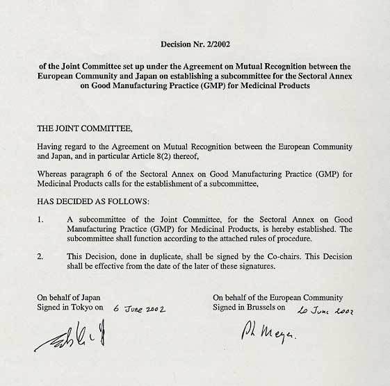 MOFA: Decision No. 2/2002 of the Joint Committee set up under the ...