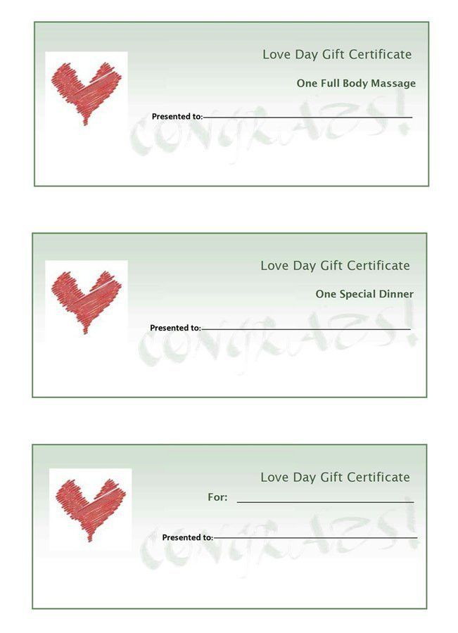 Make Your Own Gift Vouchers Template Free | Coverletter.csat.co