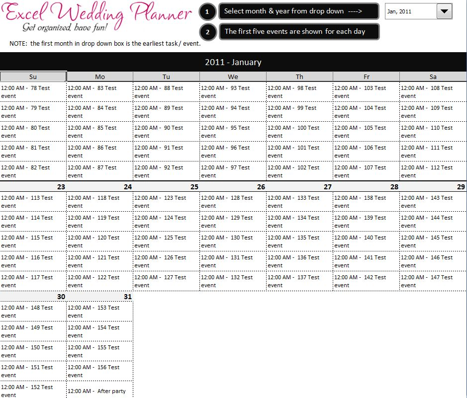 FREE Excel Wedding Planner Template - Download Today | Chandoo.org ...