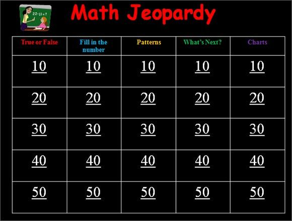 Math Jeopardy Powerpoint Template - Bountr.info