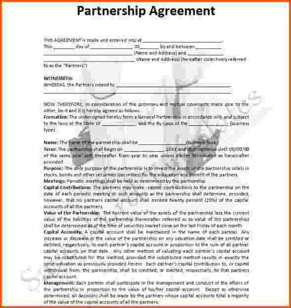 8+ partnership agreement template word | Survey Template Words
