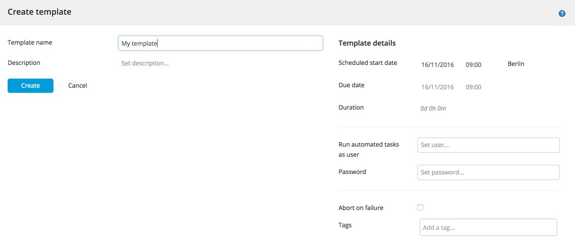 Create a release template || XebiaLabs documentation