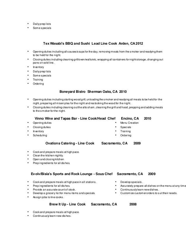Cool Breakfast Cook Resume 25 In Resume Sample With Breakfast Cook ...