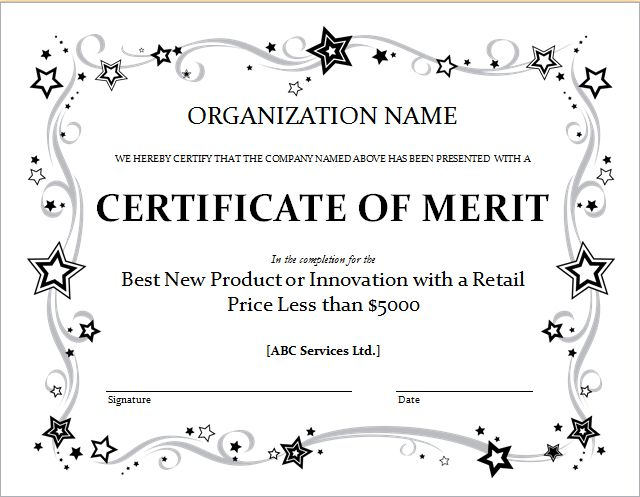 Employee Salary and Merit Certificate Templates | Word Document ...