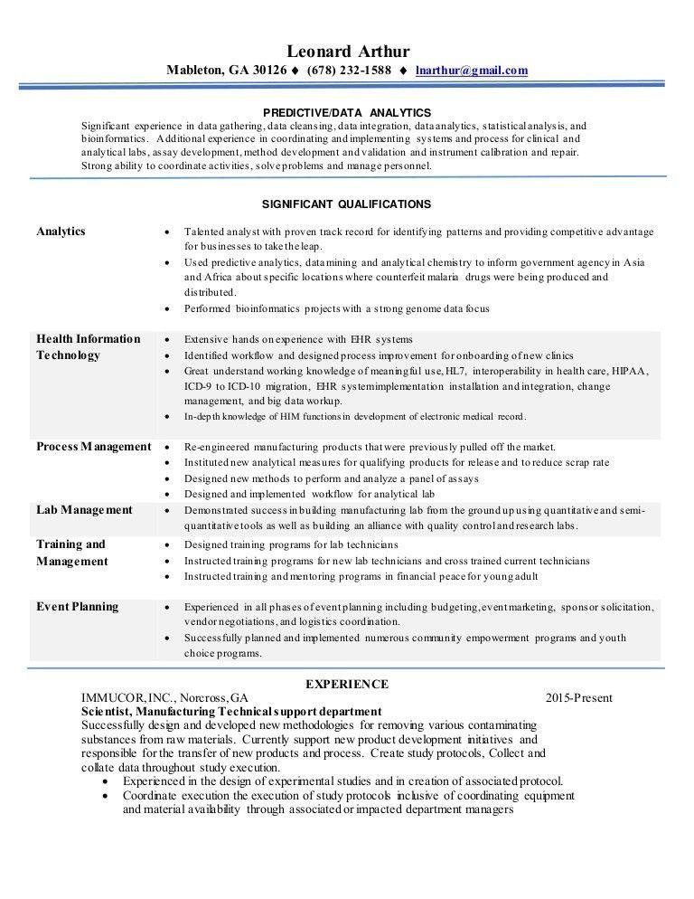 Leonard-DataAnalyst Resume