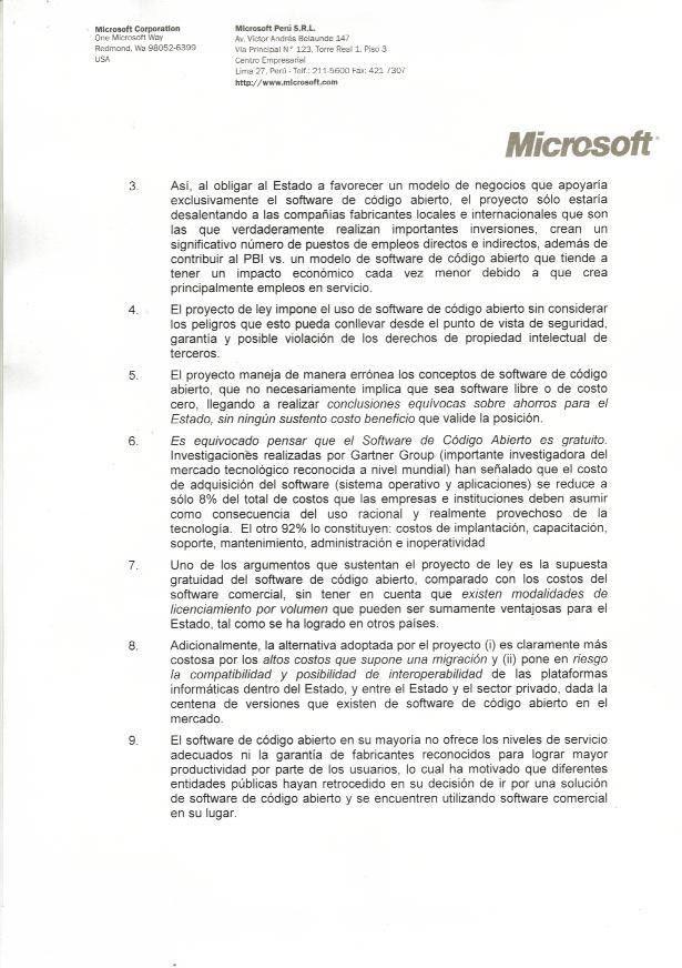 The Microsoft FUD letter to Peru | Open Source Initiative