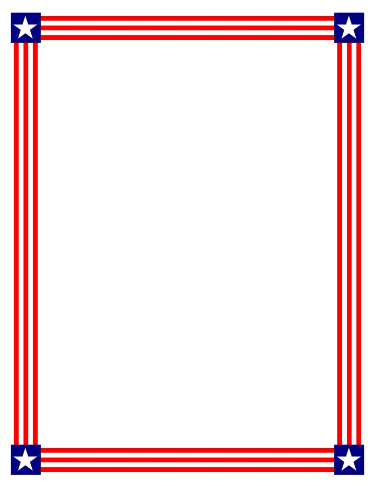 American Flag Page Border | Free Download Clip Art | Free Clip Art ...