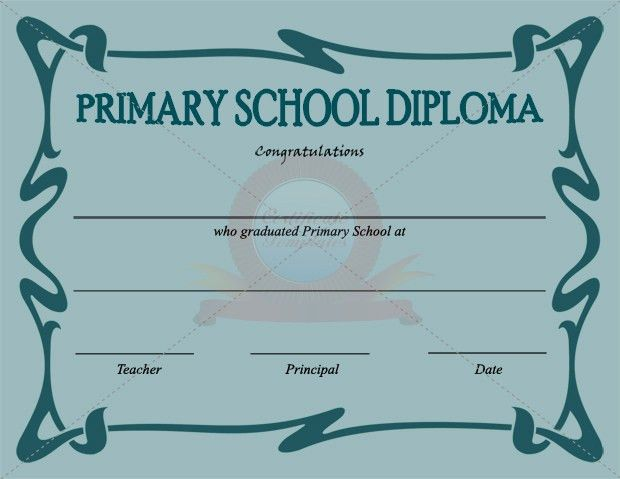 Primary School Certificate Template | SCHOOL CERTIFICATE TEMPLATES ...