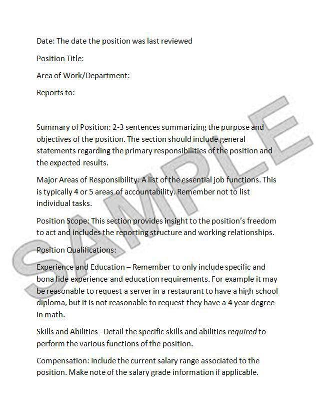 It Job Description. The Basics Of Job Analysis: Terms Job Analysis ...