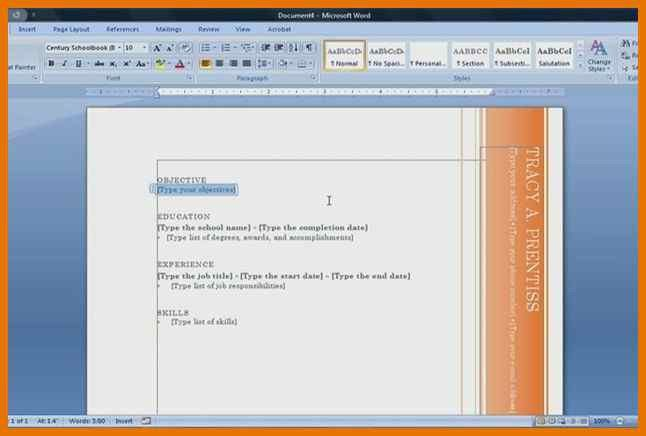how to make resume microsoft word | resume name