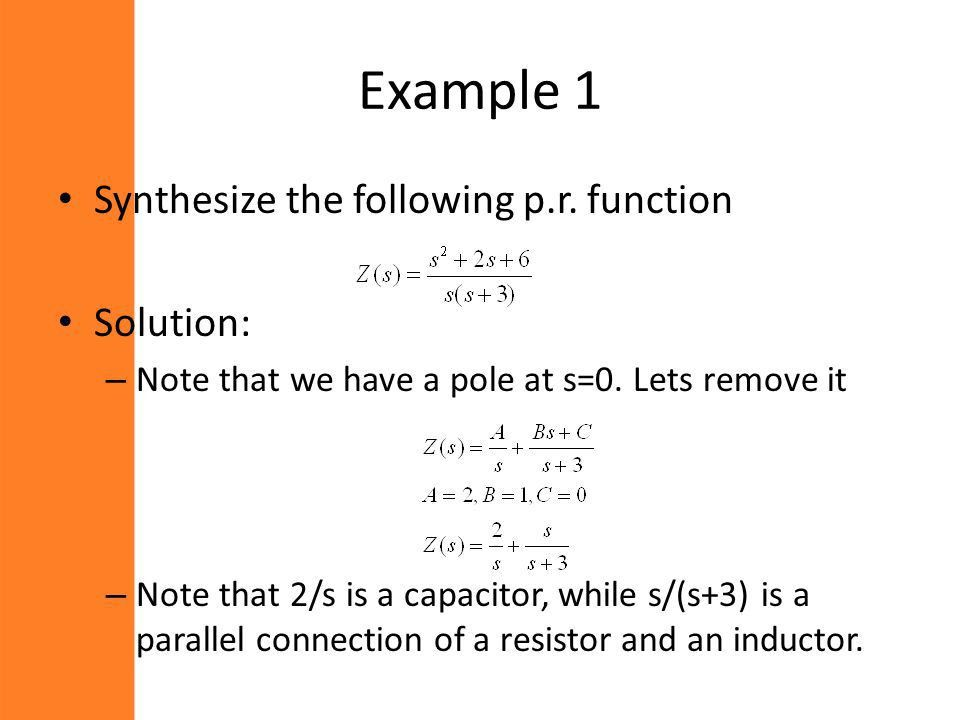 Network Analysis and Synthesis - ppt video online download