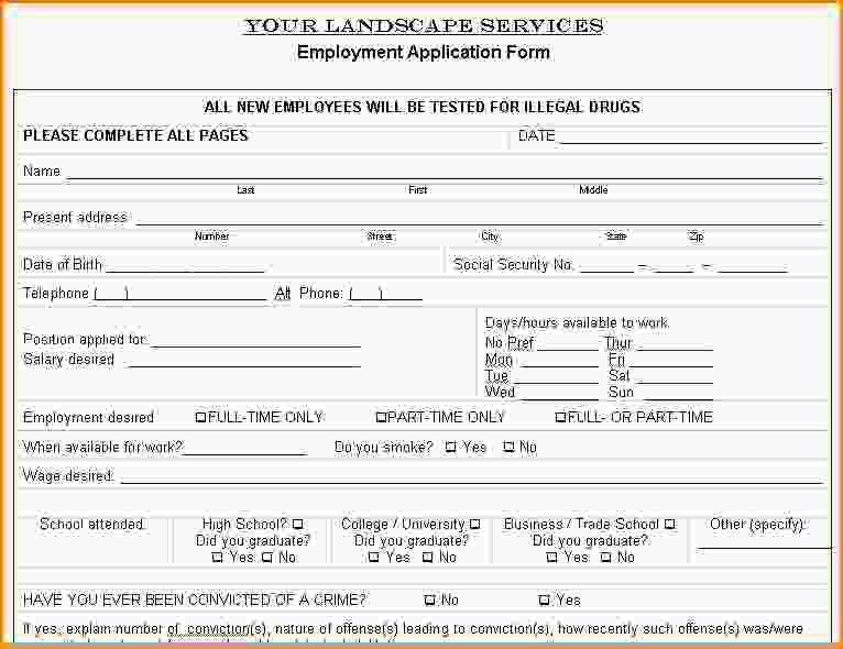 8+ lawn care contract templates | Loan Application Form