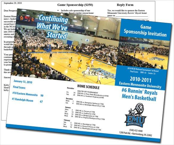 14+ Basketball Brochure Templates – Free PSD, EPS, Illustrator, AI ...