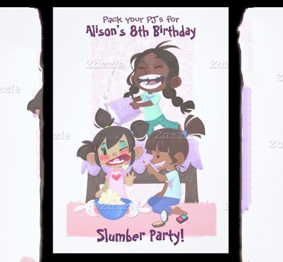 11+ Creative Slumber Party Invitation Templates & Designs! | Free ...