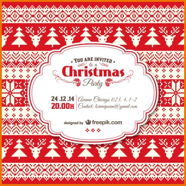 Christmas Invitation Templates.free Template Vintage Christmas ...