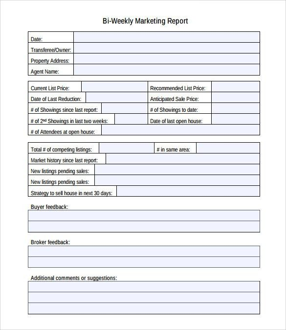 Sample Marketing Report Template - 9+ Free Documents Download in ...