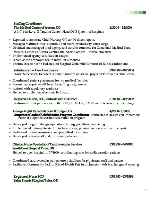 staffing coordinator resume - Template